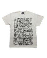 Japanese+English Word Font Tシャツ  ホワイト