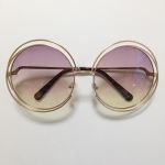sunglass  clear lens pink&yellow