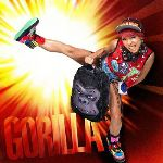 SPRAYGROUND×BOOTY LOOKBOOK 1 GORILLA model SOMEKA